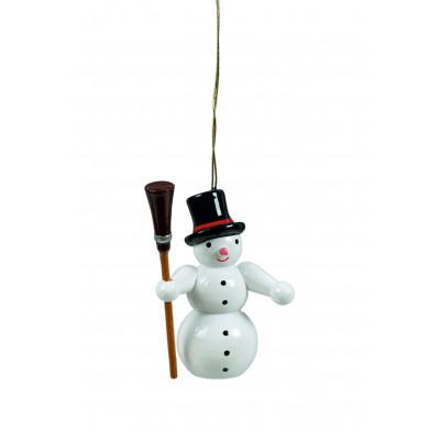 Baumbehang Schneemann mit Feger
