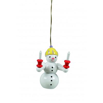 Baumbehang Schneemann mit Kerzen