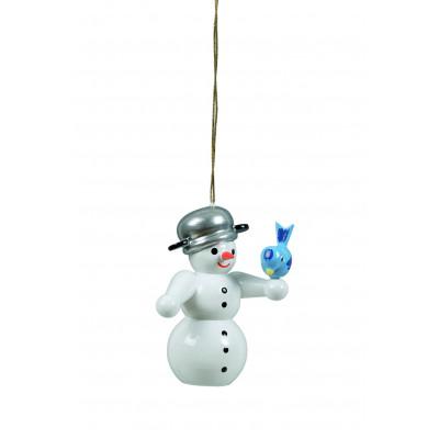 Baumbehang Schneemann mit Vogel