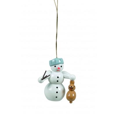Baumbehang Schneemann mit Hase
