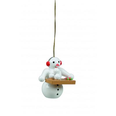 Baumbehang Schneemann mit Schneebällen