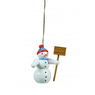 Baumbehang Schneemann mit Schippe