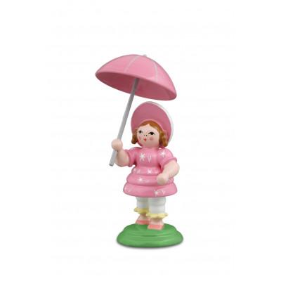 Biedermeierfrau mit Schirm