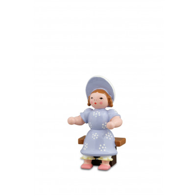 Biedermeierfrau, sitzend