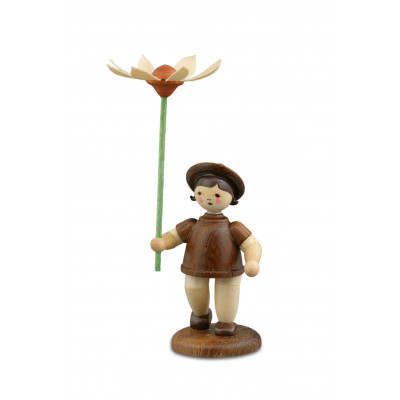 Blumenkind mit Margerite natur