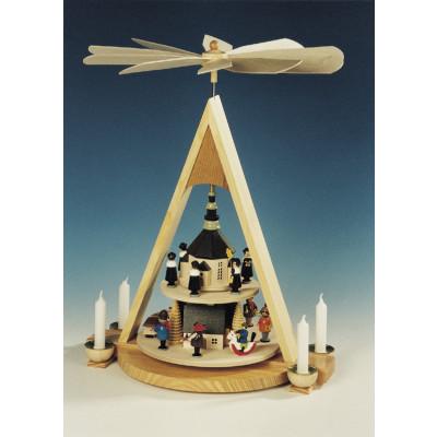 Pyramide Seiffener Weihnacht, 2-stöckig