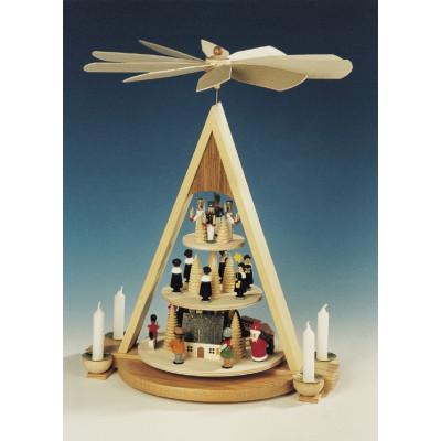 Pyramide Erzgebirgs Weihnacht, 3-stöckig