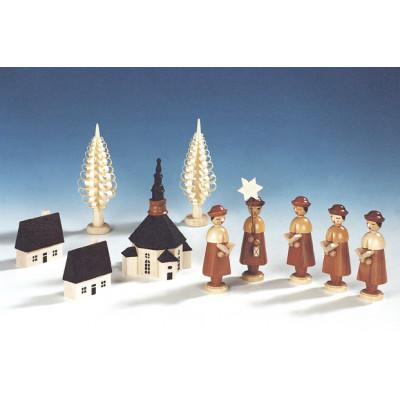 Seiffener Kirche mit Kurrende, natur