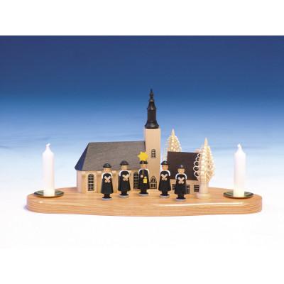 Schneeberger Kirche auf Sockel