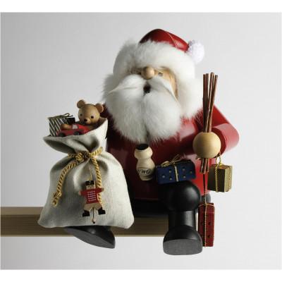 Räuchermännchen Kantenhocker Weihnachtsmann, groß