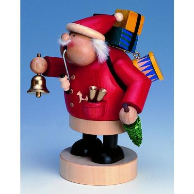 Räuchermännchen Weihnachtsmann mit Glocke
