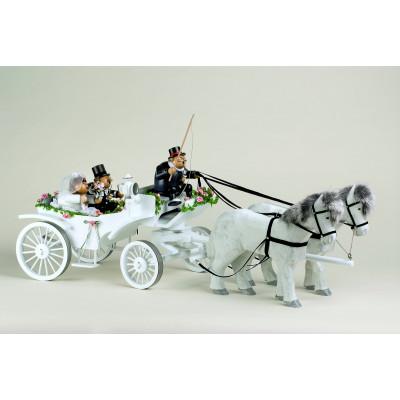 Räuchermännchen Hochzeitskutsche komplett