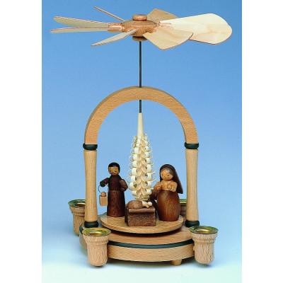 Pyramide mit Motiv Christi Geburt, natur