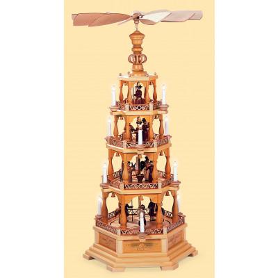Pyramide Heilige Geschichte 4-stöckig, elektrisch