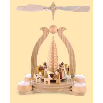 Teelicht-Bogenpyramide Heilige Geschichte