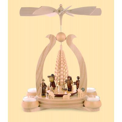 Teelicht-Bogenpyramide Waldmotiv