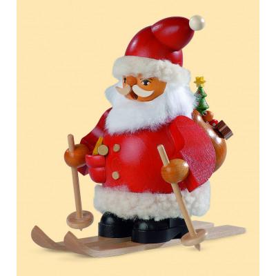 Müller Räuchermännchen Weihnachtsmann auf Skier