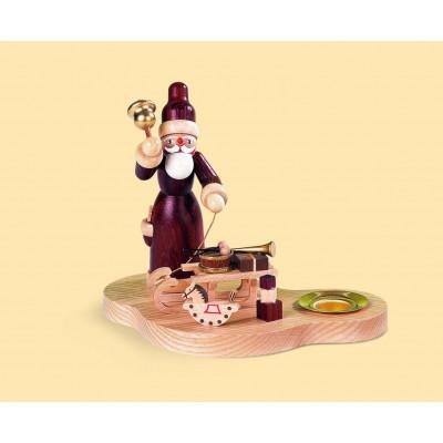Kerzenhalter Weihnachtsmann mit Gabenschlitten