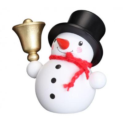 Schneemann mit Glocke