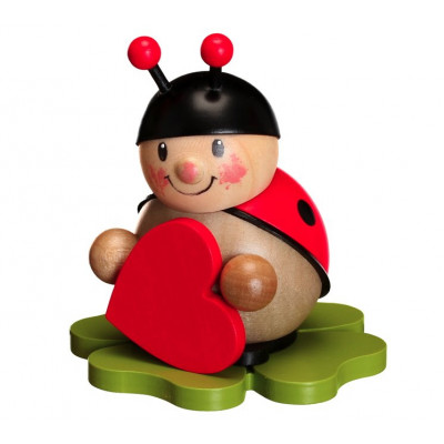 Marienkäfer mit Herz