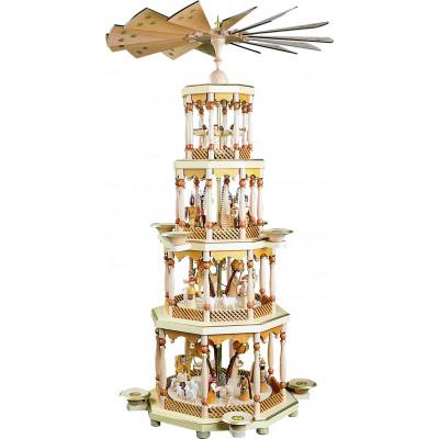 Pyramide Christi Geburt 4-stöckig natur