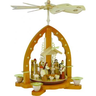 Pyramide Christi Geburt in Naturfarbe
