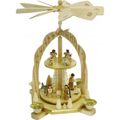 Pyramide 2-stöckig Geburt mit Engeln