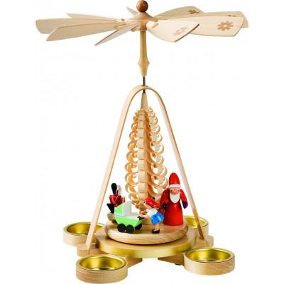 Teelichtpyramide Bescherung