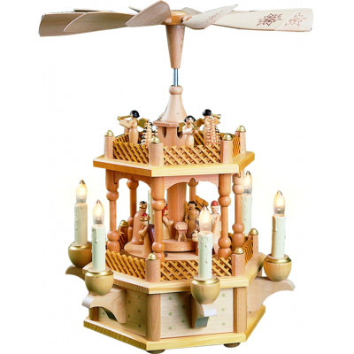 Pyramide Christi Geburt 1-stöckig, elektrisch