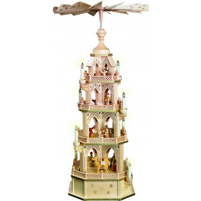 Pyramide Gotik Christi Geburt, 4-stöckig, elektrisch