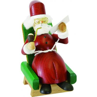 Räuchermännchen Weihnachtsmann im Sessel