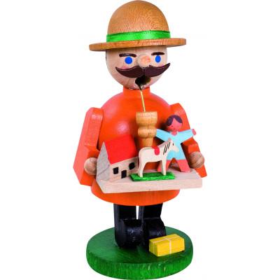 Räuchermännchen Figur als Spielzeughändler