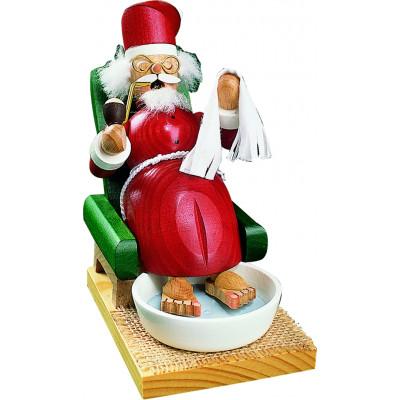 Räuchermännchen Weihnachtsmann mit Fußbad