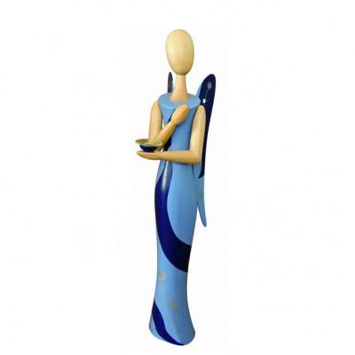 Sternkopf-Engel Blue Desire Wachskerze, 100 cm