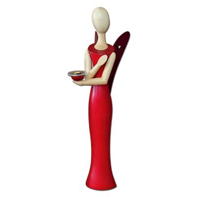Sternkopf-Engel Red Ruby Wachskerze, 100 cm