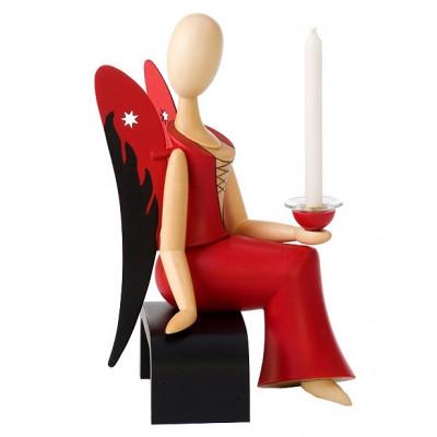 Sternkopf-Engel Sexy Lady sitzend