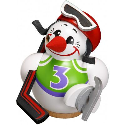 Kugelräuchermännchen Cool-Man Eishockeyspieler weiß