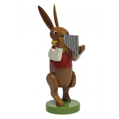 Hasenmusikant mit Panflöte