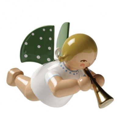 Engel mit Flöte schwebend