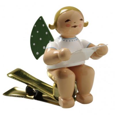 Engel mit Notenblatt auf Klemme