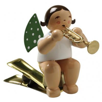 Engel mit Trompete auf Klemme