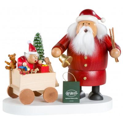Räuchermännchen Weihnachtsmann mit Kind, limitiert