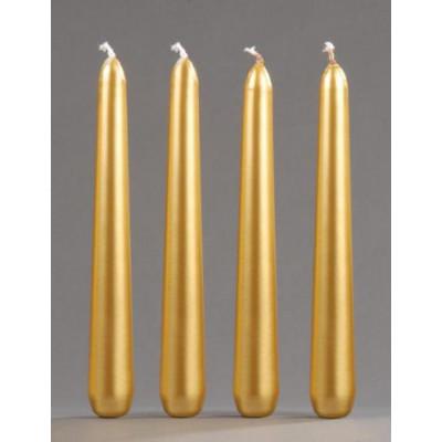 Spitzkerzen gold 150 x 23 mm - 4 Stück