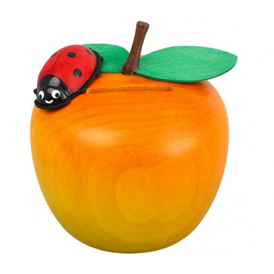 Spardose Apfel mit Marienkäfer