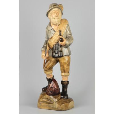 Geschnitzter Bergsteiger, 50 cm