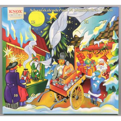 KNOX Adventskalender mit 24 himmlischen Düften Motiv Weihnachtsmarkt