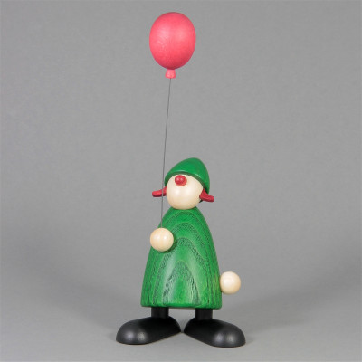 Gratulantin Lina mit rotem Luftballon, grün