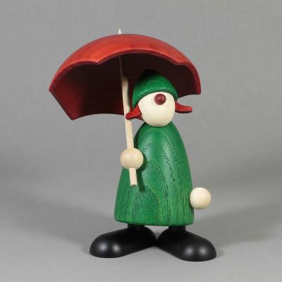 Gratulantin Louise mit Schirm, grün