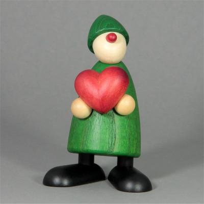 Gratulant Theo mit Herz, grün