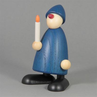 Gratulant Olli mit Kerze, blau